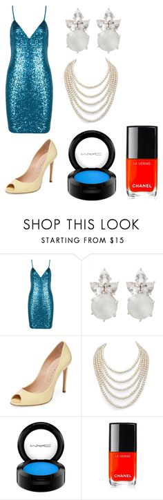 """""""Rouge GP MTV Video Music Awards Red Carpet 2017"""" by pgrace348 on Polyvore featuring Casadei, DaVonna, MAC Cosmetics and Chanel"""