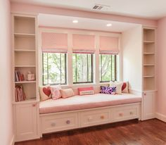Bookcases & Built-Ins - traditional - kids - dc metro - Heartwood Design - Bookcases & Built-Ins – traditional – kids – dc metro – Heartwood Design You are in the righ - Bedroom Closet Design, Girl Bedroom Designs, Room Ideas Bedroom, Home Room Design, Home Decor Bedroom, Home Interior Design, House Design, Bedroom Nook, Decor Room