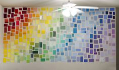 paint sample wall art - Google Search sticky tack??  we'll see...