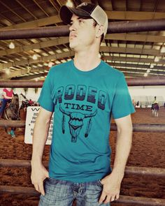 Dale Brisby's Rodeo Time unisex fit tee. http://dirtroadmermaid.storenvy.com/collections/1376912-dale-brisby/products/17530220-rodeo-time