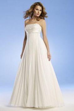 chiffon wedding dress photos