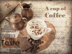 A cap of coffee. Canvas Print by Irena Orlov 24x36 by irenaorlov