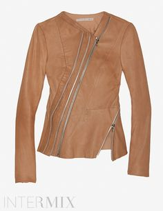 Willow Nude Leather Jacket