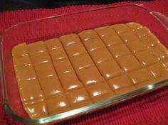 Six Minute Caramels~ Ingredients 1/4 cup butter 1/2 cup white sugar 1/2 cup brown sugar 1/2 cup light Karo syrup 1/2 cup sweetened condensed milk Directions: 1 Combine all ingredients. 2 Cook 6 minutes, stirring every two minutes. 3 Stir and pour into lightly greased dish. 4 Let cool. 5 Cut, wrap in wax paper & store in an air tight container.