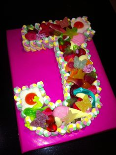 Female Letter J sweetie Cake