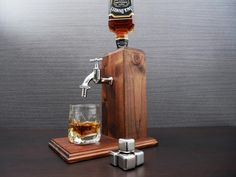 Men valentines day gift Whiskey Dispenser gift birthday Gift | Etsy Whiskey Dispenser, Alcohol Dispenser, Jack Daniels, Wooden Gifts, Handmade Wooden, Whisky Spender, Bourbon Alcohol, Birthday Gifts For Husband, Dad Birthday