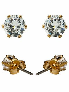 American Apparel - Crystal Gold Plated Stud Earrings