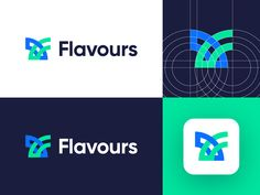 Flavours - Logo Design Variation designed by Eugene. Connect with them on Dribbble; Corporate Logo Design, Business Branding, Logo Branding, Branding Design, Packaging Design, Logo Design Examples, Logo Ideas, Graphic Design, Logo Sketches