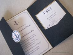 Nautical Theme Wedding Invitation by theoriginalpear on Etsy, $5.25
