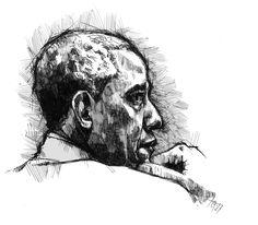 """ Quick ink sketch of Barack Obama Barack Obama, Sketches, Ink, Portrait, Drawings, Painting, Headshot Photography, Painting Art, Portrait Paintings"