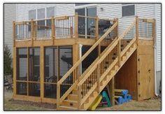 screened in porch underneath a deck | Screen Porches Curt's Custom Decks, Screen Porches, 3-Season Porches by shirley