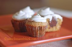 The Sweet Chick: Better Than S'Mores Mini Cupcakes