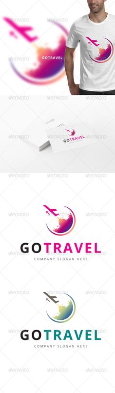 Go Travel Logo - Holiday Resort Travel Logo, Travel Usa, Travel Design, Travel Style, Airline Logo, Travel Illustration, Travel Companies, Travel Scrapbook, Travel Aesthetic