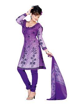 Purple Jacquard Salwar Suit