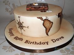 Travel Map cake with vintage map - Cake by Alpa Boll - Simply Alpa
