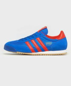 Cracking colourway on these Dragons - Bluebird mesh and suede with Collegiate Red leather trim - nice