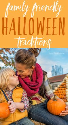 "I just love the fall!  The cool weather, the falling leaves, the colors, the smells, the fun activities, like Halloween!   Who says traditions have to be reserved for birthdays and holidays like Easter, Thanksgiving and Christmas?  Create your own ""Spooktacular"" traditions and memories with these FUN FAMILY FRIENDLY HALLOWEEN TRADITIONS  -- click the image for more!"