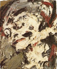 Artist: Frank Auerbach Painting: Head of Gerda Boehm Date :1965 Dimension: 413x500x Technique: oil on board Auerbach painted the same model every day for a year. He scratched in to his work with tools, layering brushstrokes.