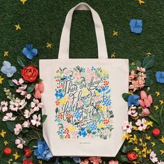 Featuring one of our favorite quotes, the Seeing Flowers tote bag is perfect for trips to the farmer's market or library. Our tote bags are made and screen printed here in the USA. Rifle Paper Co, Super Mom, Henri Matisse, Canvas Tote Bags, Mother Day Gifts, Cotton Canvas, Gift Guide, Screen Printing, Diaper Bag
