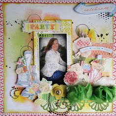 Party Time - Scrapbook.com - #scrapbooking #layouts #websterspages