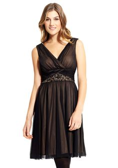 juli? JESSICA HOWARD V-Neck Pleat Detail Dress