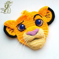 Crochet Pattern. Applique. Simba The Lion King by InspiredCrochetToys | Etsy