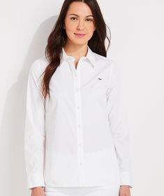 Shop Chilmark Classic Button Down at vineyard vines White Caps, Trendy Outfits, Trendy Clothing, Workout Shirts, Spring Summer Fashion, Shirt Blouses, Button Downs, Perfect Fit, Feminine