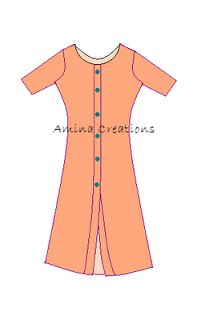 Tutorial on stitching a top with front opening http://aminacreations.blogspot.in/2012/08/how-to-stitch-kameez-with-front-opening.html