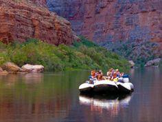 Canyoneers motorized Grand Canyon river rafting boat