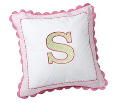 Savannah Decorative Sham, Pink she is obsessed with her initials and wants them on everything. Monogram Pillows, Pink Room, Barn Quilts, Baby Furniture, Pottery Barn Kids, Kids Decor, Savannah Chat, Baby Gifts