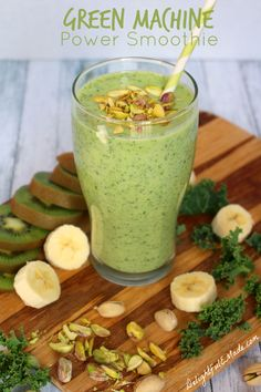 Power up your morning with this Green Machine Power Smoothie