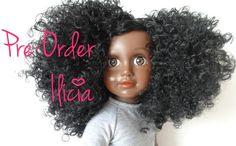 Ilicia My Black Doll Natural Hair Doll Donkere Pop Kroeshaar Krullen