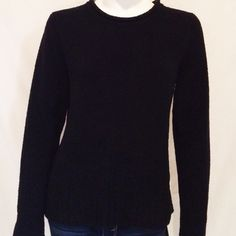 """Carolyn Taylor Black Sweater Adorable Black Crew Neck Sweater by Carolyn Taylor. The length of the sweater 24.5, Armpit to armpit 19"""", Sleeve Length 25"""". 100% Polyester / Poliester. Hand wash cold with like colors. Size Medium. Carolyn Taylor Sweaters Crew & Scoop Necks"""