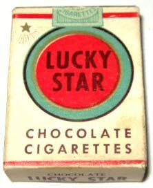 Chocolate Cigarettes. I always ate the paper and the chocolate. Who had the time to peel the paper off this deliciousness?