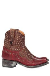 Rode Mexicana boots Tabetha Zipper 7' enkelaarsjes