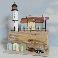Driftwood Waterproof Decoration Door Decals A Raft of Driftwood on The Shoreline with Seagulls Wavy Sea and The Sky Digital Image Perfect Ornament Blu Driftwood Sculpture, Driftwood Art, Sky Digital, Digital Image, Small Wooden House, Deco Nature, Driftwood Projects, House Ornaments, Miniature Houses
