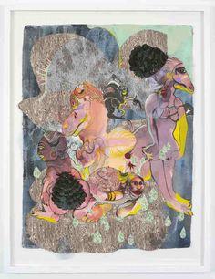 galerie-nathalie-obadia-rina-banerjee-virtute (3) Collages, Musa, Farmer, Love Her, Groom, Artsy, The Incredibles, Painting, Heaven