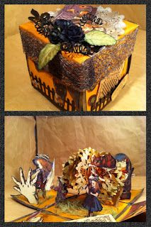 Halloween Surprise Box (exploding) Using Graphic 45 papers.
