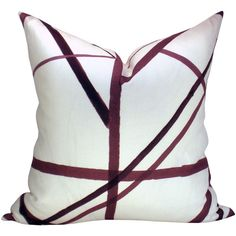Channels Pillow Cover in plum/oatmeal ($76) ❤ liked on Polyvore featuring home, home decor, throw pillows, decorative pillows, home & living, home décor, silver, plum colored throw pillows, colored throw pillows and plum throw pillows