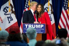 Melania Trump has appeared with her husband on the campaign trail, as she did in Waterloo,...