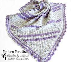 Lavender Baby Blanket Crochet Pattern