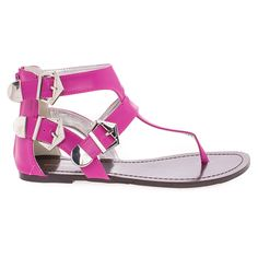 Gladiator Thong Sandal w Contrasting Metal Buckle >>> Be sure to check out this awesome product.