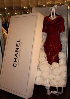 Chanel .  red dress