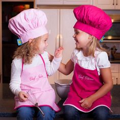 Personalized Chef Apron and Hat Set