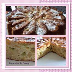 Gâteau au yaourt aux pommes et à la rhubarbe  - La cuisine de Boomy