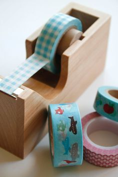Washi Tape Dispenser - Wooden - Single Roll Dispenser