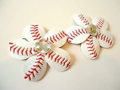 Hey, I found this really awesome Etsy listing at https://www.etsy.com/listing/179490969/baseball-bling-flower-flip-flop-clips
