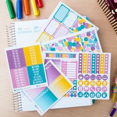 Bubblegum Theme Complete Set Sticker Planner // ECLP Vertical by FasyShop on Etsy