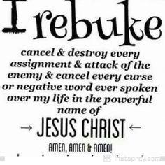 READ IT ! PRAY IT ! BELIEVE IT ! THE ENEMY IS SATAN !