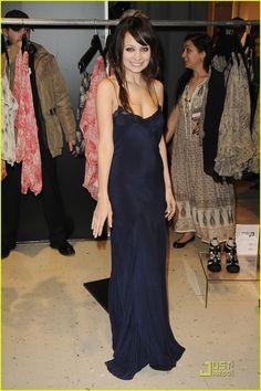 Winter Kate lingerie maxi dress. Nicole Richie
